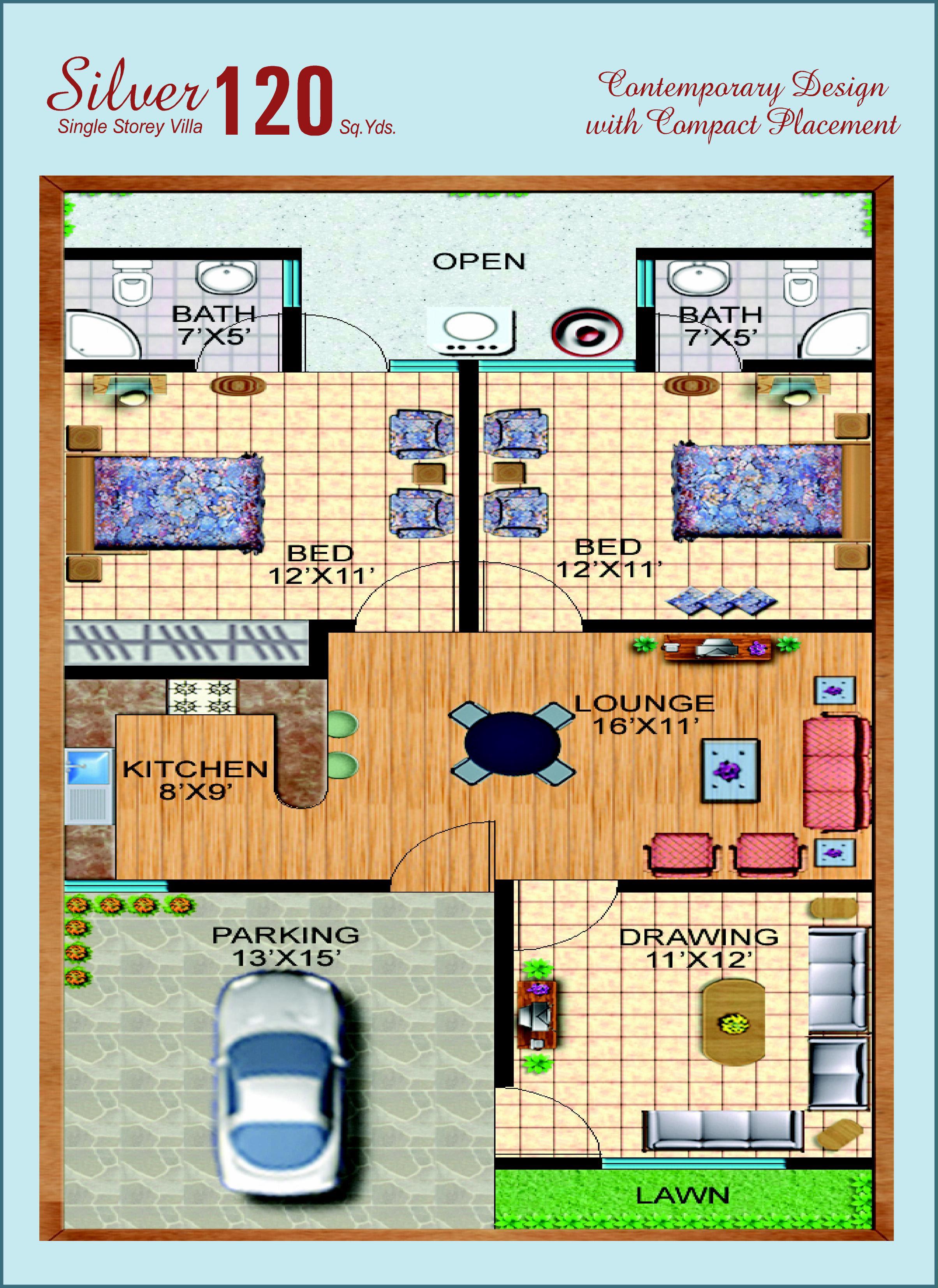 160 Sq Yard House Design