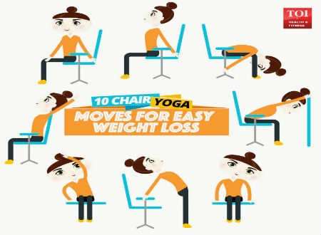10 chair yoga moves for easy weight loss  dekh media