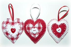 hearts in a set, and not only can they be used on the Christmas tree ...