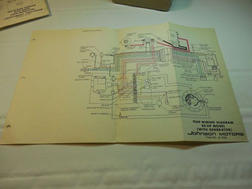 Purchase 1969 Johnson 85hp Outboard Wiring Diagram Vintage Motor Js 4338 Boat Motorcycle In Keokuk Iowa United States For Us 5 99