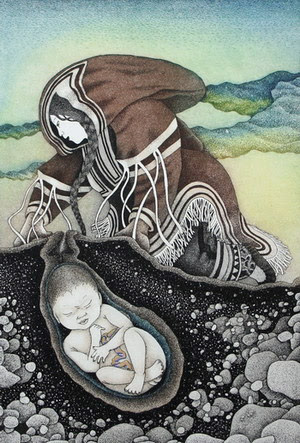 Mother Earth, 2006. Germaine Arnatauyck, Etching and Aquatint Print.