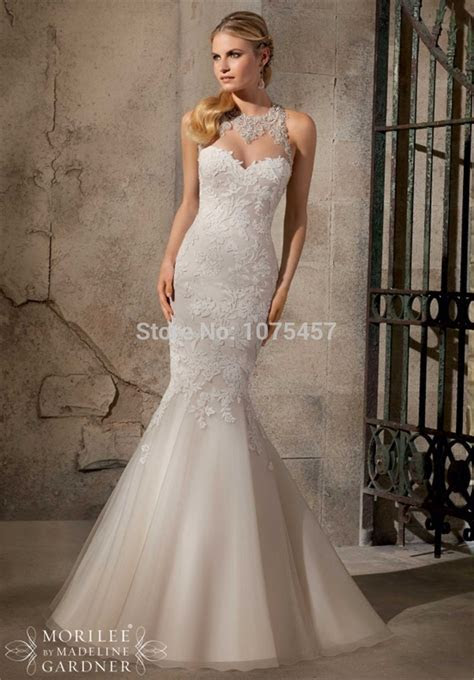 New Arrival Sexy Keyhole Back Wedding Dress 2015 Halter