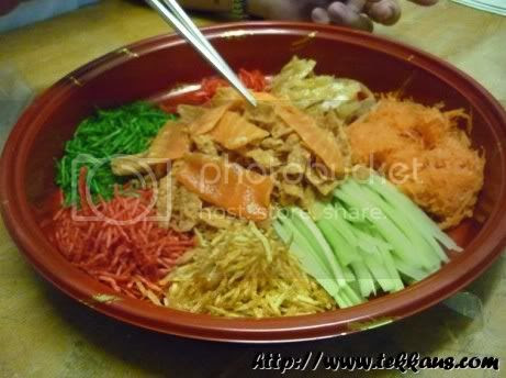 Toss Yee Sang,Yu Sheng,Chinese New Year
