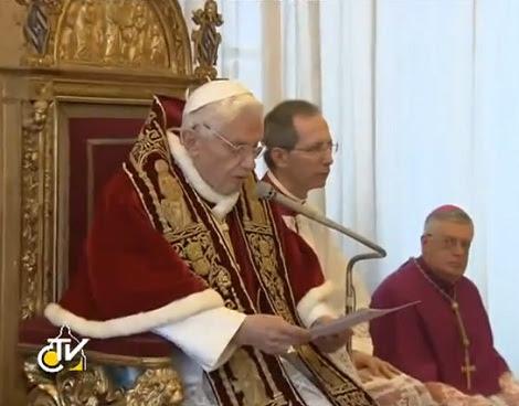 Benedetto XVI atto di rinuncia