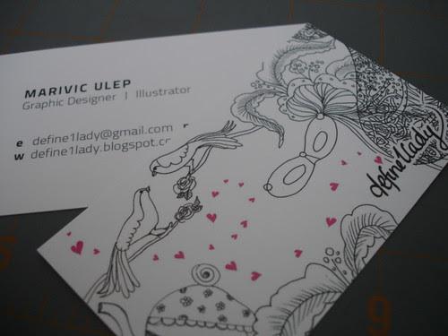 Marivic Ulep - Graphic Designer & Illustrator Businesscard - 2