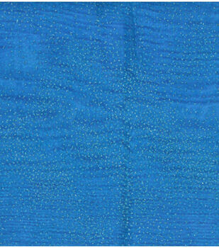 Casa Collection- Glitter Organza Wave Fabrics- Azure Blue