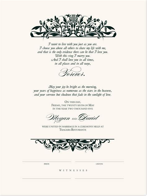 Celtic Wedding Marriage Certificates with Irish Wedding