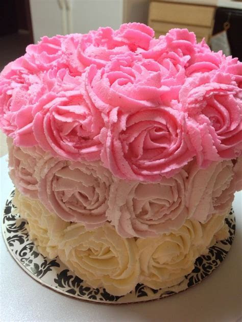 207 best images about Rose Cakes on Pinterest   Birthday