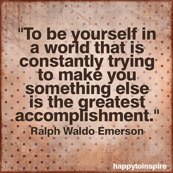 To Be Yourself In A World Ralph Waldo Emerson 235x235