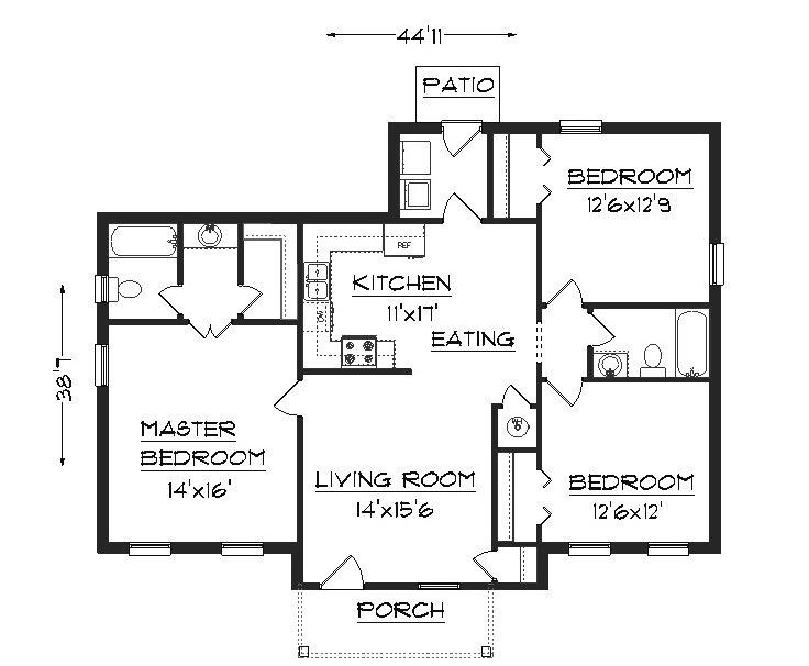Image processing Floor plan detecting rooms borders