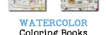 Watercolor Painting Coloring Book