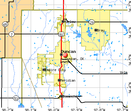 Duncan Oklahoma Ok 73434 Profile Population Maps