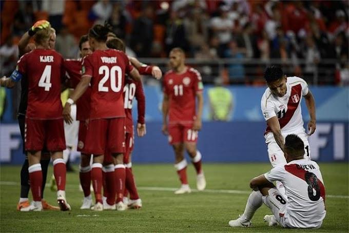 Peru perde para a Dinamarca na estreia da Copa
