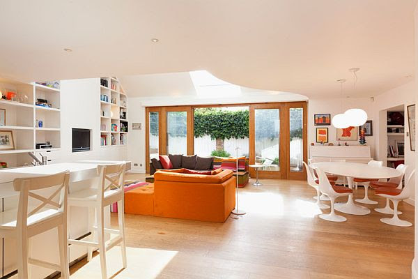 Modern and colorful London residence