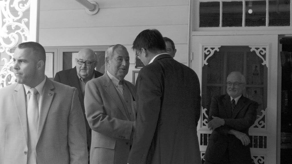 Harold Corbin and Governor Pat McCrory ©2013 Bobby Coggins