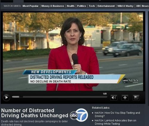 Number of Distracted Driving Deaths Unchanged - ABC News