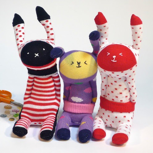 Billy, Milly & Tilly Sock Bunnies