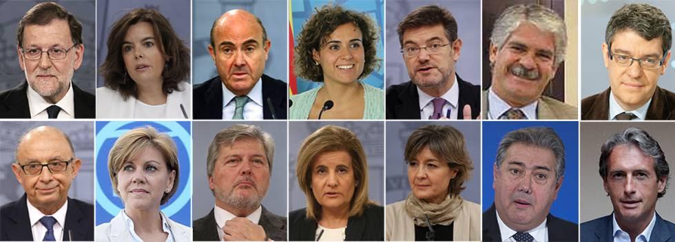 Nuevos ministros de Mariano Rajoy