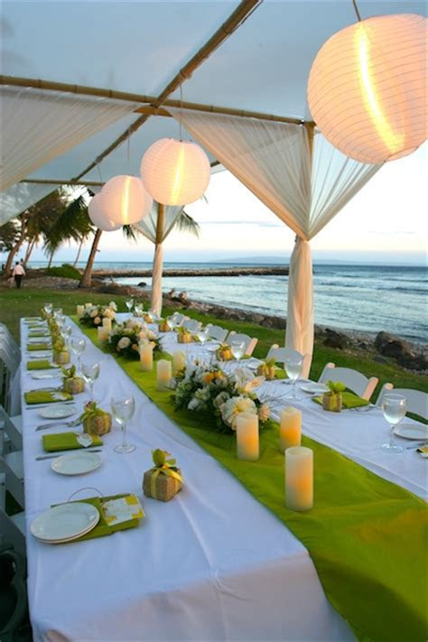 Yellow wedding flowers: Blue Sky Weddings Maui