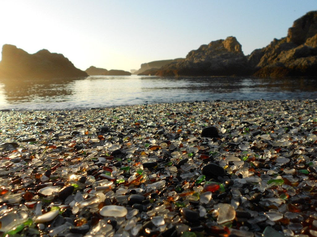 sea glass beach in california by National Parks Blog