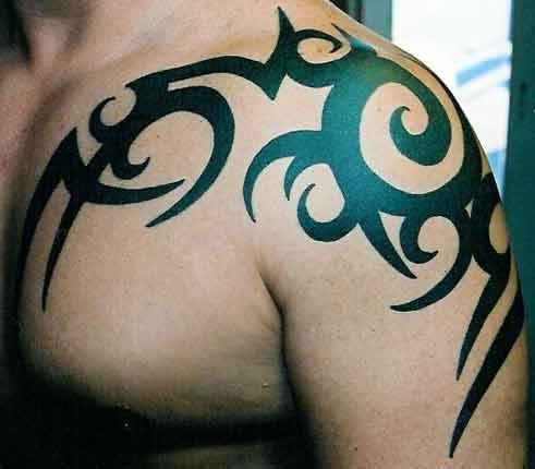 4c28ca231 ideal tattoo art: shoulder tattoos tribal designs