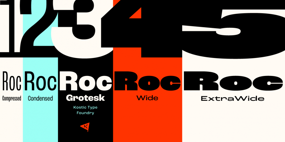 Download Roc Grotesk Fonts by Kostic Type Foundry