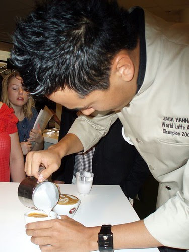 jack hanna pouring a cup of latte