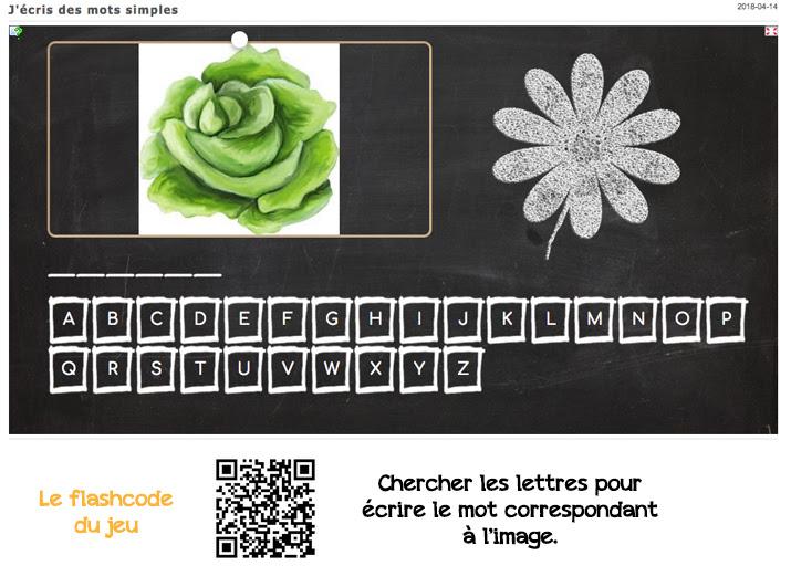 applis learning apps : écrire des mots simples (jeu du pendu)