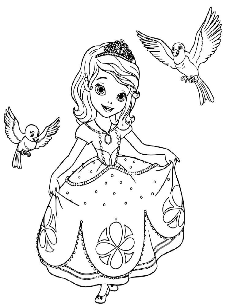 Prenses Sofia 7 ücretsiz Boyama Resimleri