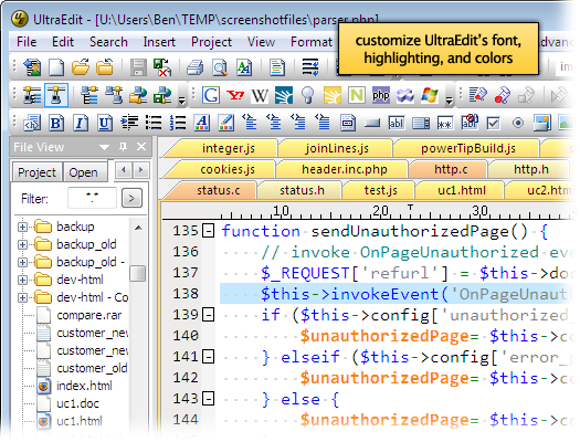 UltraEdit is a highly flexible text editor