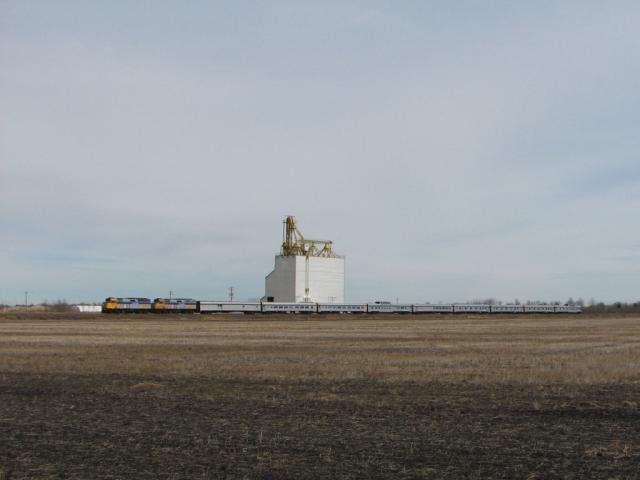 VIA Canadian at Elie Manitoba