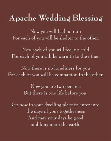 Apache Wedding Blessing  used with my wedding vows. Still