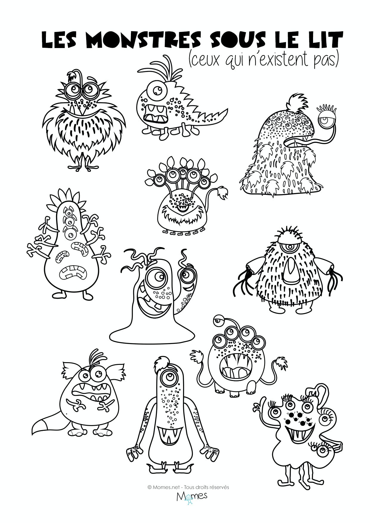 Coloriage Monstre Colorier Les Enfants Marnfozinecom
