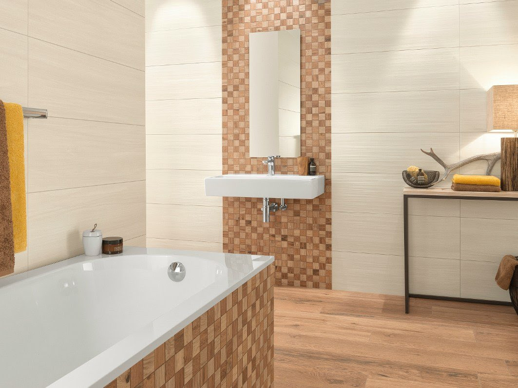 Indoor porcelain stoneware wall tiles with wood effect ...