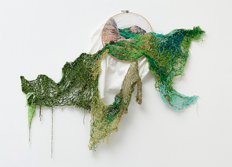 Embroidered Landscapes and Plants by Ana Teresa Barboza textiles landscapes embroidery