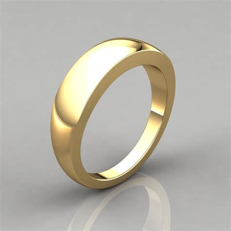 Plain Wide Gold Wedding Band Ring   PureGemsJewels