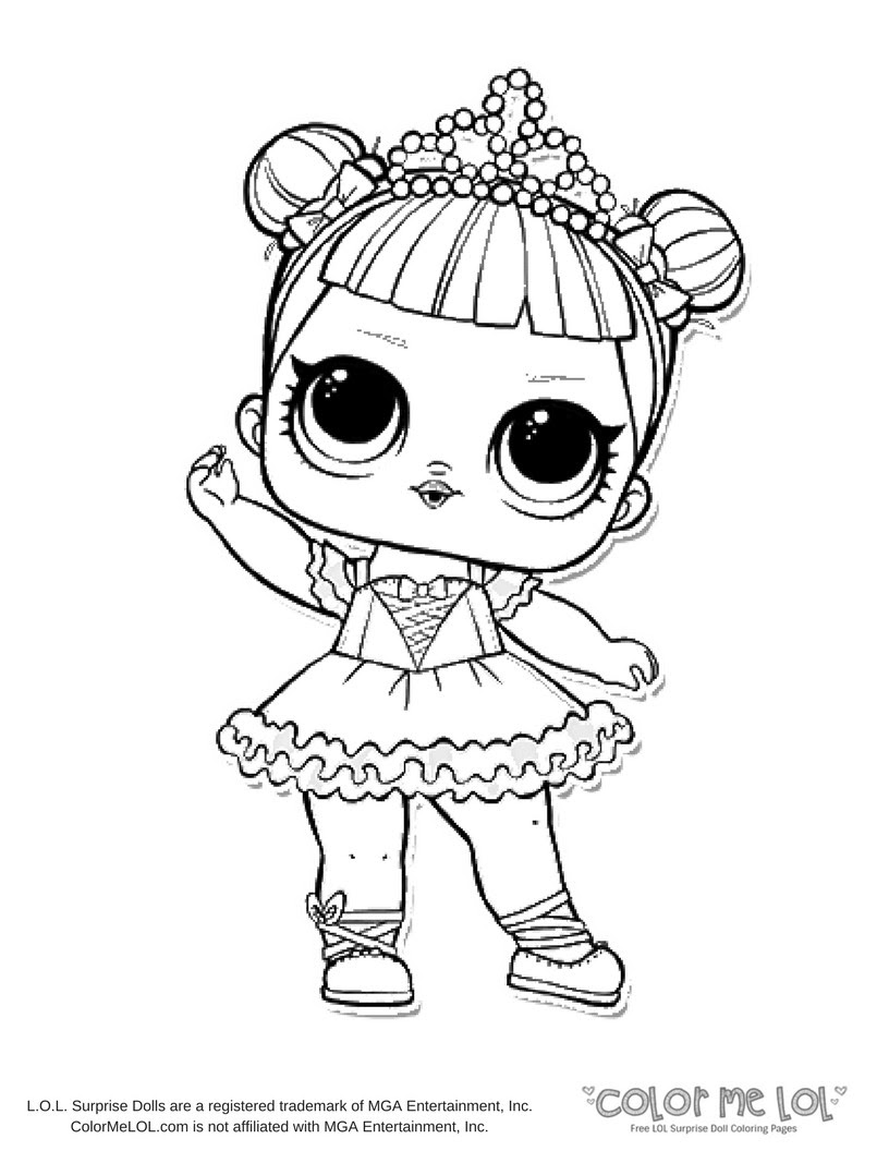 Lol Doll Treasure Coloring Pages Coloring And Drawing