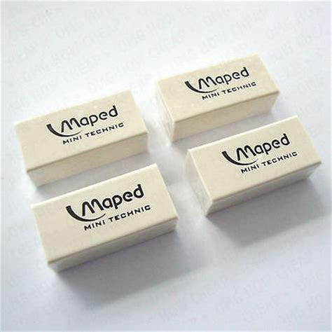 4 x MAPED MINI TECHNIC ERASER MINI SIZE PLASTIC RUBBER ERASERS
