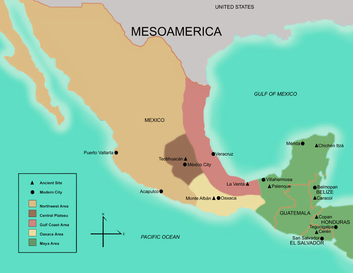 Map Of Mesoamerica Map Of Mesoamerica | Color 2018