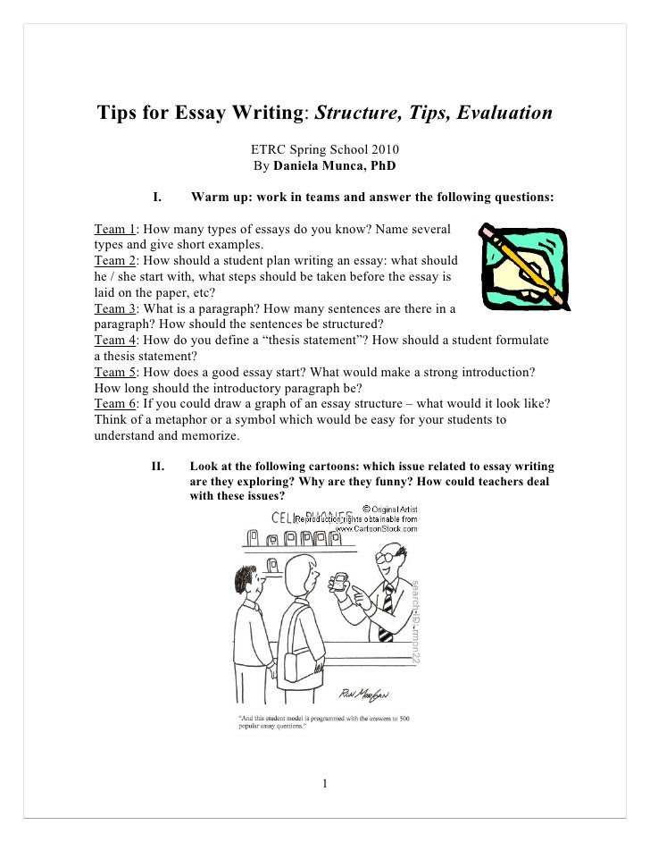 how to write essay in english
