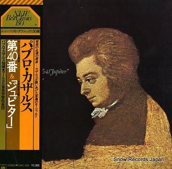 CASALS, PABLO mozart; symphony no.41 & 41 jupiter