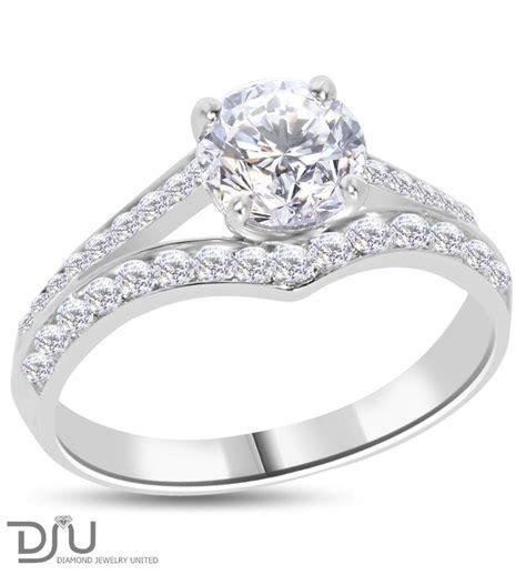 1.5 carat F VS1 Round Solitaire Diamond Engagement Ring