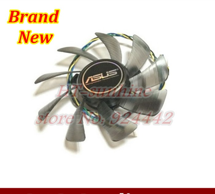 T129215SU Graphics Card 4Pin Cooling Fan DIY For ASUS GTX 460 Gigabyte GTX 1060