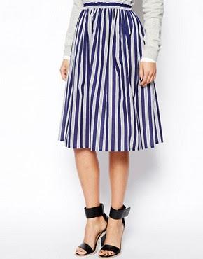 Image 4 ofASOS Woven Midi Skirt in Stripe