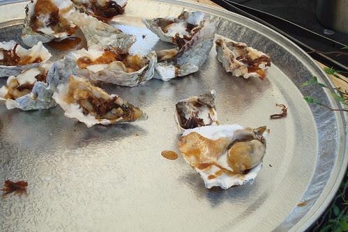 Javier Plascencia / Mision 19: Pacific Oyster Asada w/ Chicharron Short Rib, Serrano Ponzu Butter, Lemongrass Foam