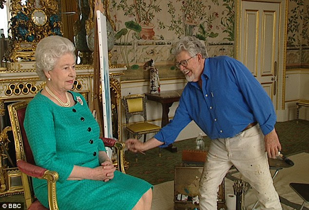 Honour: Rolf Harris painted the Queen to celebrate her 80th birthday in 2006, and is known to be well-liked by Her Majesty