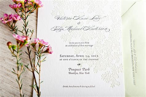 Spring Wedding Invitations from Campbell Raw Press