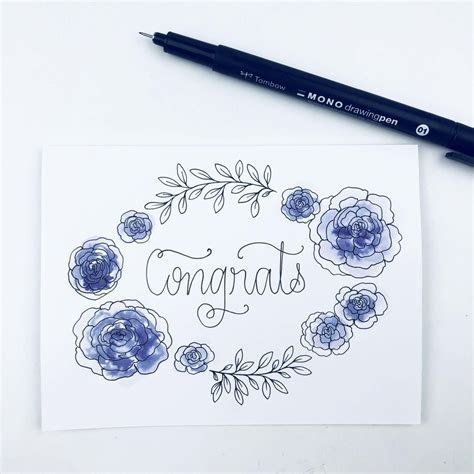 Make Your Own DIY Wedding Congratulations Card   Tombow