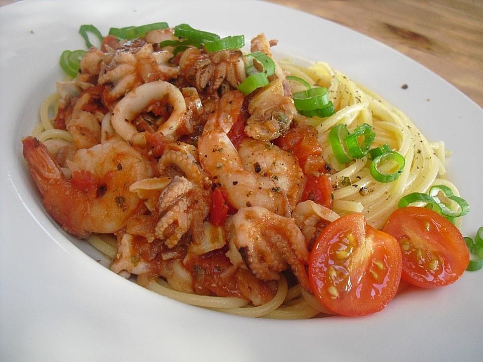 Spaghetti Frutti Di Mare Recipe — Dishmaps
