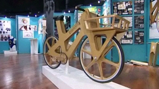 cardboard bicycle, cardboard bike, bike made from cardboard, eco-friendly bicycle, cardboard bike Phil Bridge, student design bicycle, Sheffeld England student design, cardboard bike, transportation tuesday, cardboard1.jpg